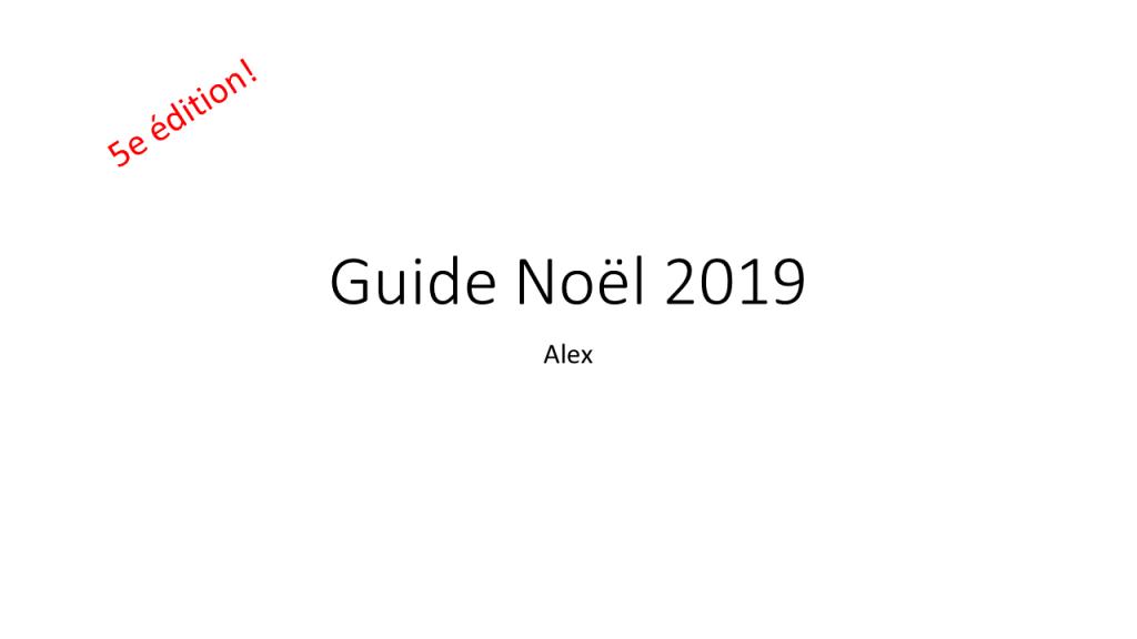 Guide Cadeau 2019